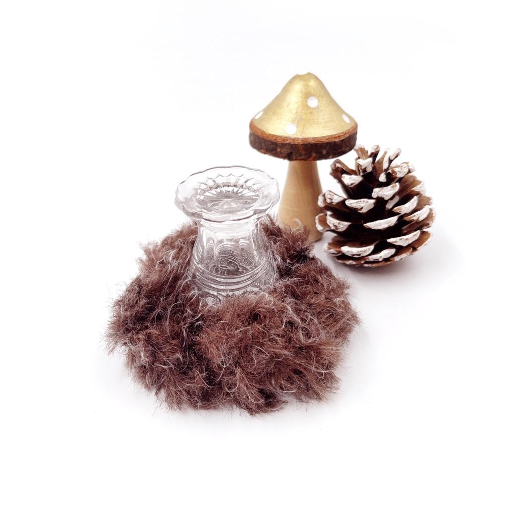 手編み雑貨 HanahanD シュシュ 秋冬 ウール 手編み ヘアアクセサリー
