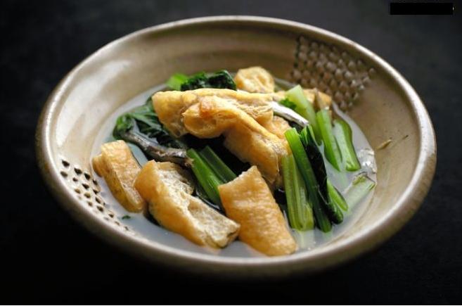 京味お揚げとお菜っ葉