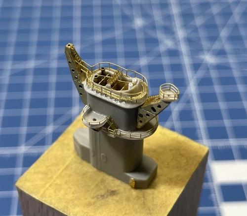 米海軍 大型巡洋艦『アラスカ』(1944年11月~12月頃) 製作中 煙突作り FBU8TEaVcAQxmm_◆模型製作工房 聖蹟